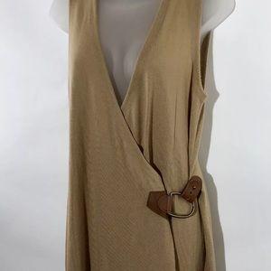 Lauren Ralph Lauren Wool Wrap Sleeveless Dress